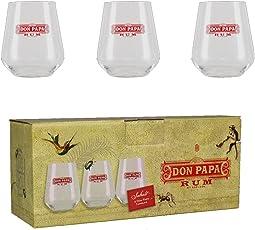 Don Papa Glas Set Tumbler - 3 Stück Alkoholfrei Rum (3 x 0.415 l)