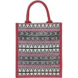 Jute Cottage Jute Bags for Lunch for Women and Men   Jute Grocery Bag   Jute Carry Bag   Jute Tiffin Bags   Printed Jute Bag