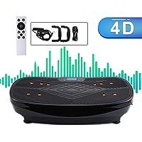 Sfeomi 4D Vibrationsplatte 440W Vibrationsgerät LED Körper Vibrationstrainer Curved Design Fitness Vibrationsgerät Touch…