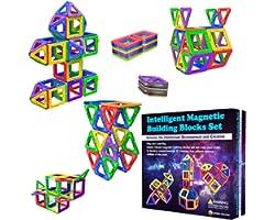 Blocs de Construction Magnétiques – Cadeaux de pour Les Enfants – Blocs de constructions aimantés - Jeux pour garçons et Fill