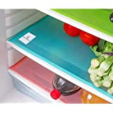 Kuber Industries Place Mats/Drawer Mats/Fridge Mats/Multi Purpose Mats/Refrigerator Mats Set of 6 Pcs (Multi), 48x33x1 cm