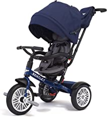 Bentley 6 In 1 Baby Tricycle and Stroller with Bentley Bag (Blue)