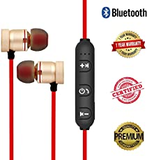 Quastro Magnetic Bluetooth Waterproof Attractive Headphone with Noise Isolation, Integrated Neckband, Thunder Beats Stereo Sound and Hands-free Mic and Controlling Buttons with Magnetic Earbuds , Compatibility Secure Fit for Sports , Gym , Running & Outdoor with Built-in Microphone Supports 100% Original