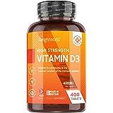 Vitamin D3 4000 IU - 400 Tabletter (Räcker i Ett 1 år) Vitamin D Kraftfulla Kosttillskott för Starkare Immunförsvar, Kalcium