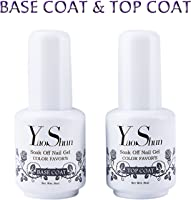 Top Base Coat Semi Permanent - Y&S UV LED Vernis à Ongles Top Coat Vernis Gel et Base Coat Vernis Semi Permanent Soak...