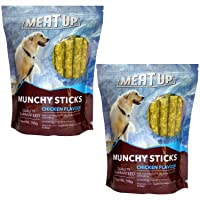 Meat Up Munchy Sticks, Chicken Flavour, Dog Treats, 700 g (Buy 1 Get 1 Free), 700 g