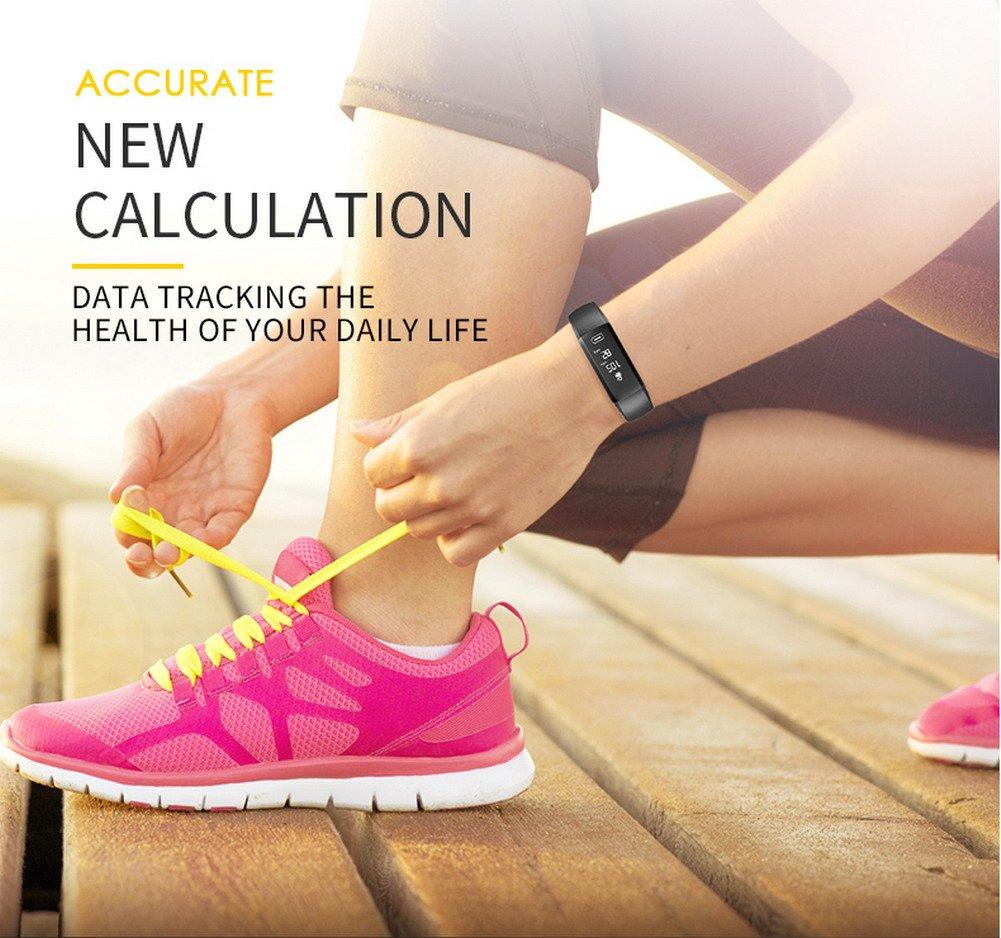 Pulsera Actividad Reloj Inteligente Fitness Tracker Multifuncional Cuenta Pasos CaloríAs, Smartwatch Fitness Tracker Para Hombre Y Mujer 3