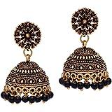 Preyans Jhumki Earrings for Women (Black)(GSE600)