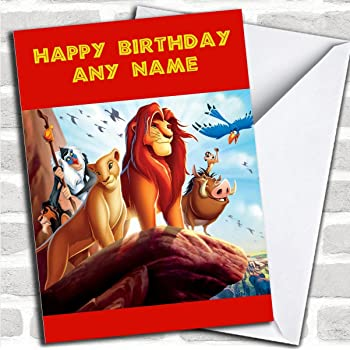 Personalised The Lion King Childrens Birthday Card Amazon