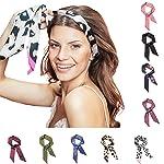 Pony Puffin Haarband - Braid Bow Verschiedene Farben Kopfband 120 x 7 cm Stirnband Seidenmatte Optik Bandana Für...