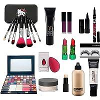 Combo Makeup Kit For Girls (set of 15) 50 color Eyeshadow makeup kit, 7 set of makeup brush, 4 lipstick, linear…