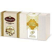 Gangemi NOZZE D'ORO - Raffinati Confetti con interno di Mandorla Rivestiti da una Patina Dorata - 1kg