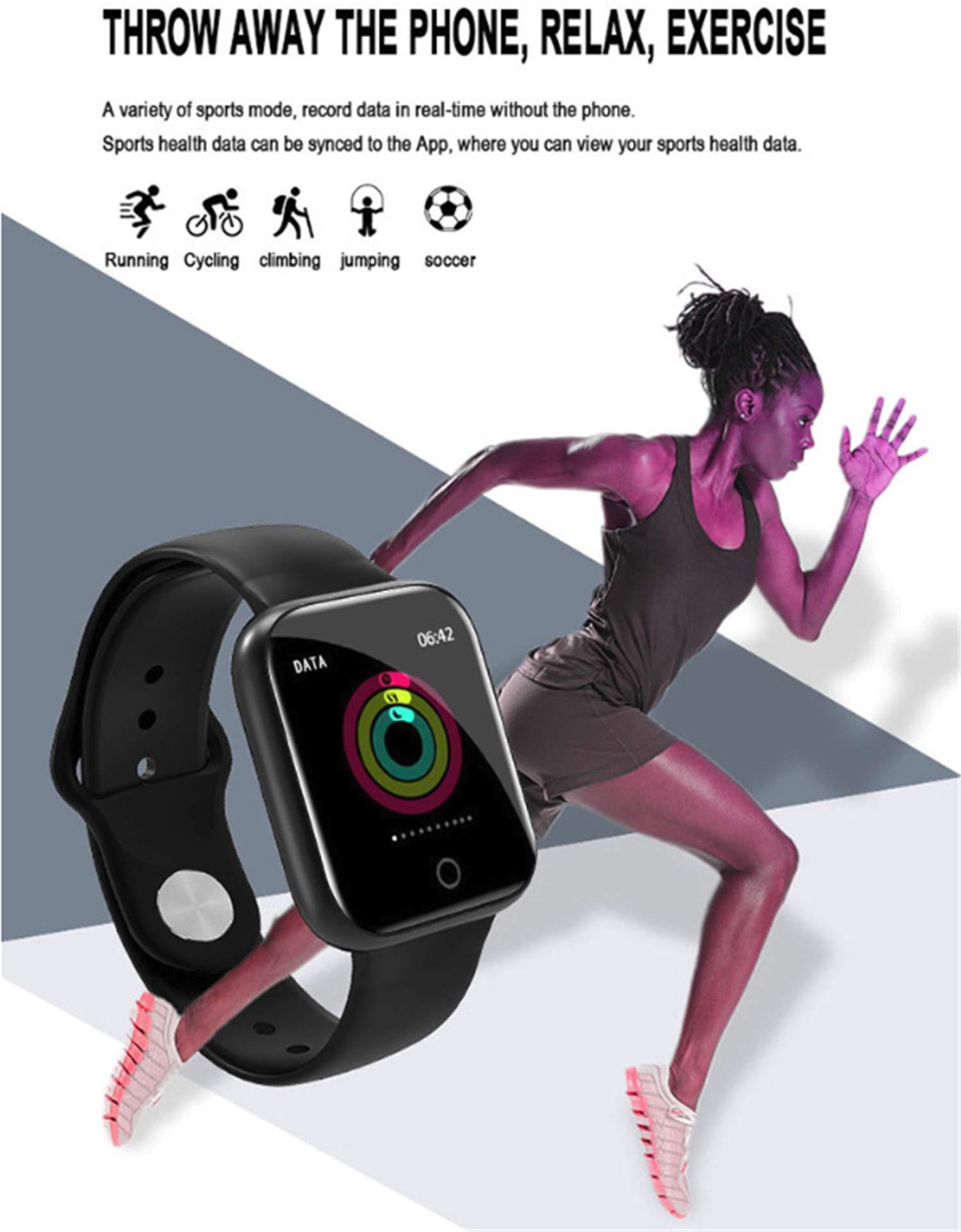 linyingdian Smartwatch, Reloj Inteligente Impermeable IP67 Pulsera de Actividad Inteligente con Monitor de Sueño Pulsómetros Podómetro Contador de Caloría, para Hombre Mujer niños 2