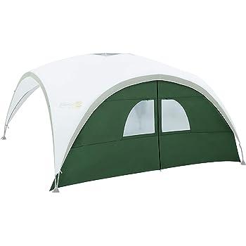 Coleman Pavillon Seitenteil, passend für Event Shelter XL 4,5 x 4,5 m, 1 Pavillon Seitenwand mit Tür und Fenster, Seitenplane, dient auch als Sonnenschutz, wasserabweisend, Grün