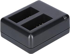 Rollei Externes Ladegerät AC 550 Touch - External Charger für Rollei Actioncam 550 Touch, inkl. 2 aufladbarer Lithium-Ionen-Akku - Schwarz