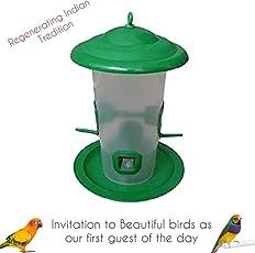 Praish Bird Feeder with Hut (Large)
