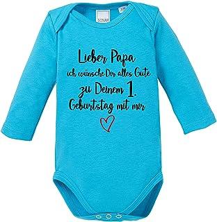 Kleckerliese Baby Body Vintage Spr/üche Jungen M/ädchen Langarm mit Motiv Happy Birthday Papa ich Bin Dein Geschenk