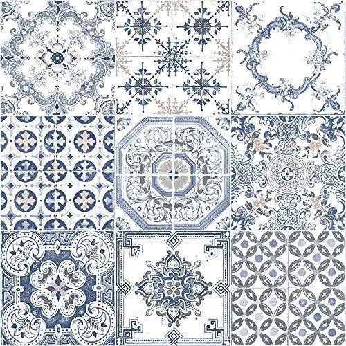 muriva-tapete-fliesen-muster-retro-floral-motiv-kuche-badezimmer-vinyl-tapete-blue-j95601