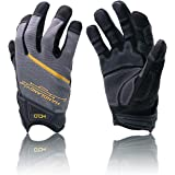 HANDLANDY Mens Work Gloves with Touch Scree Finger Tips,Breathable & Flexible Mechanic Working Gloves,Craftsman,Outdoor, Yard