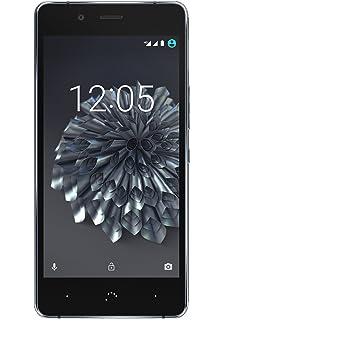 "BQ Aquaris X5 Plus - Smartphone de 5"" (4G LTE, Qualcomm Snapdragon 652 Octa Core, memoria interna de 16 GB, 2 GB RAM, cámara de 16 MP) negro y gris antracita"