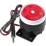 KERUI Mini Sirena de Alarma CC 12V, 120dB Cuerno de Alarma con Cable para Sistema de Alarma de Casa gsm