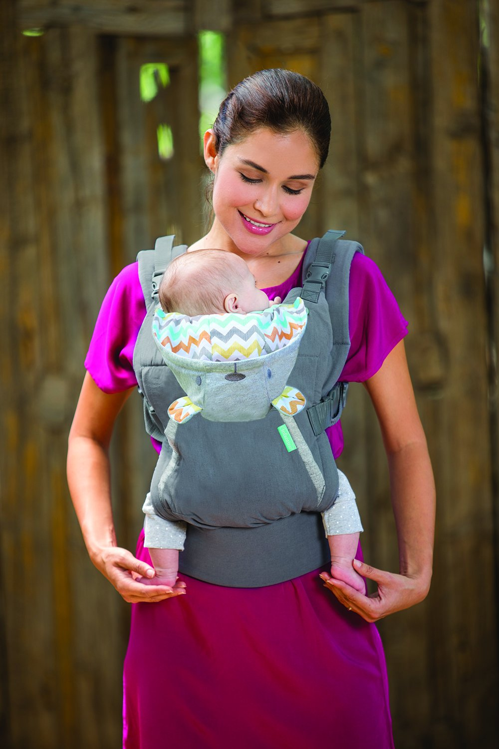 Infantino Cuddle Up Ergonomic Hoodie Carrier, Grey Infantino Fully safety tested Carries children from 12-40lbs (5.4 - 18.1 kgs) 10