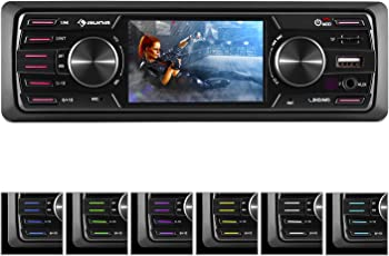 auna MD-350BT • Autoradio • Car-Radio • MP3-Radio • Deckless • Bluetooth • MP3-fähiger USB-Port • Mini-SD-Slot • UKW-PLL-Tuner • AUX-Eingang • schwarz