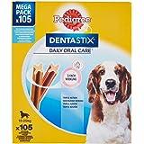 Pedigree Dentastix Snack per l'Igiene Orale, Cane Medio (10-25 Kg - 2.94 kg), 105 Pezzi