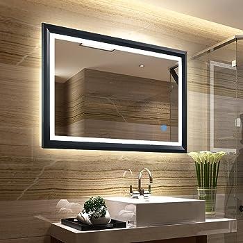 Tonffi Led Badspiegel Mit Beleuchtung Wandspiegel Badezimmerspiegel