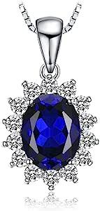 JewelryPalace Donna Gioiello Principessa Diana William Kate Middleton Ciondolo Collana Pendente 45cm Argento Sterling 925