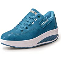 Frauen Abroll-Schuhe Ladies' Wedge Heel Lace-Up Platform Shoes Running Shoes Fashion Trainers