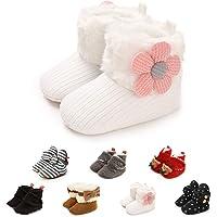 Stivaletti in Morbido Pile Neonato Pantofole Antiscivolo comode Calze Scarpe Invernali per Bambini Primi Passi Primo…