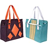 Foonty Daily Use Women Jute Lunch Bags(Combo of 2,FAB-16)