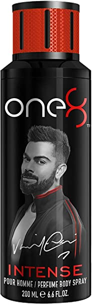 One 8 by Virat Kohli INTENSE Perfume Body Spray For Men, 200 ml