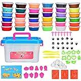 Cozywind Air Dry Clay 36 Colori Kit di Argilla Polimerica Fai da Te per Bambini Argilla Ultraleggera Non tossica Regalo Creat