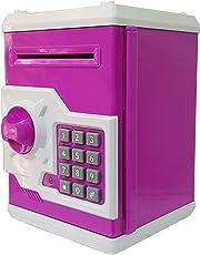 Magicwand Money Safe Piggy Bank With Electronic Lock-Magenta & White
