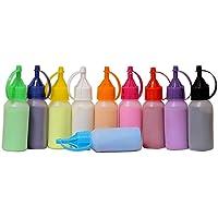 TOTA Rangoli Colour Powder Bottles Kolam Rangoli Powder for Floor Rangoli, Art,Home Decor, Pooja.Set of 10 Rangoli…