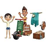 Disney Pixar coffret Construction de Scooter, figurines articulées Luca Paguro et Alberto Scorfano pour rejouer le film Luca,
