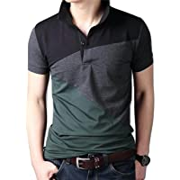 Peppyzone Men's Cotton Collared Neck Half Sleeve T-Shirt
