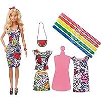 Barbie Coffret Crayola Tenues Fruitées, Poupée et Vêtements lavables à Customiser Feutres Parfumés, Accessoires inclus…