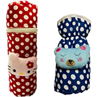 First trend Baby Feeding Bottle Cover with Soft and Attractive Cartoon Pack of 2 (Navy Blue)