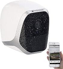 VisorTech WLAN Kamera Akku: IP-HD-Überwachungskamera mit App, IP65, bis 6 Monate Batteriebetrieb (Überwachungskamera mit Batterie)