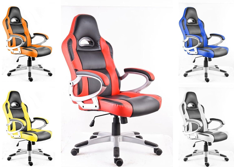polironeshop monza sedia poltrona presidenziale per gaming racing ... - Scrivanie E Sedie Ufficio