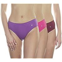 VSTAR Teens Cotton Regular Fit Solid Color Hipster Panty Assorted_Pack of 3
