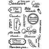 Timbre de silicone clair transparent/mots français pour Scrapbooking/album de bricolage décoratif Stamp Clear Sheets ST0141