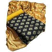 HK Textiles Women's Banarasi Cotton Silk Unstitched Salwar Suit Dress Material With Duputta
