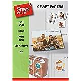 SNAP SP-38-7 Lot de 7feuilles de papier photo vinyle autocollant à imprimer, de haute qualité et étanche, pour imprimantes à