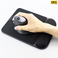 TASLAR Non-Slip Rubber Base Mouse Pad with Memory Foam (Black)