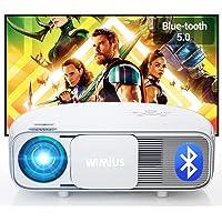 """Vidéoprojecteur 7200 Bluetooth, Natif 1920x1080P Full HD, WiMiUS S4 LCD Rétroprojecteur, pour Home Cinéma 300"""", LED…"""