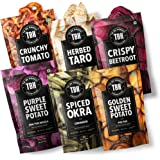 TBH - To Be Honest Vegetable Chips Crunchies | 378g, Pack of 6 | Beetroot, Tomato, Okra (Bhindi), Taro & Sweet Potato Chips |